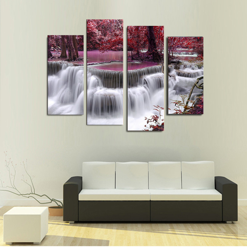 home decor stores in lagos waterfall combination canvas print schilderij printed on 12524