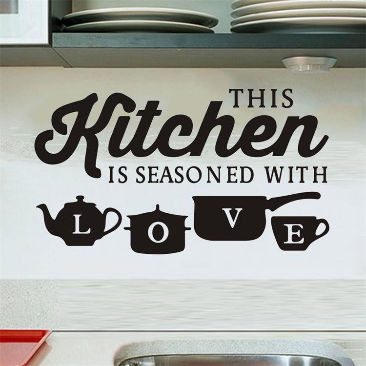 Miico 3D Creative PVC Wall Stickers Home Decor Mural Art Removable Special Kitchen Decor Sticker