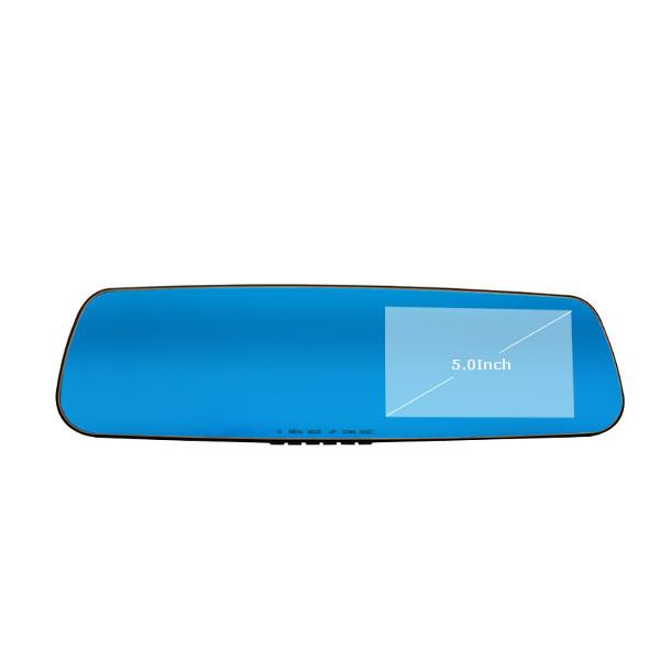 blue ray amplia aangle visión nocturna HD 1080p Coche DVR Espejo retrovisor tacógrafo dual Lente rexing G099