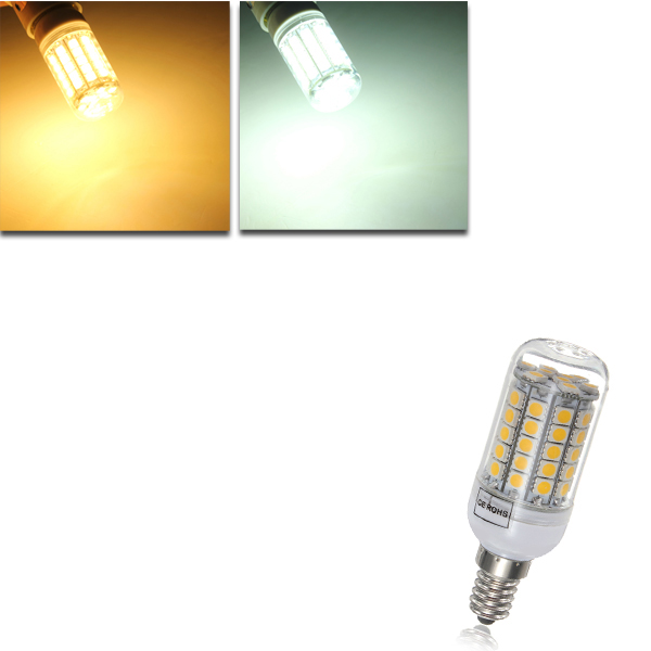 E14 6W 700LM 59 SMD 5050 LED Corn Light Lamp Bulbs AC 220-240V