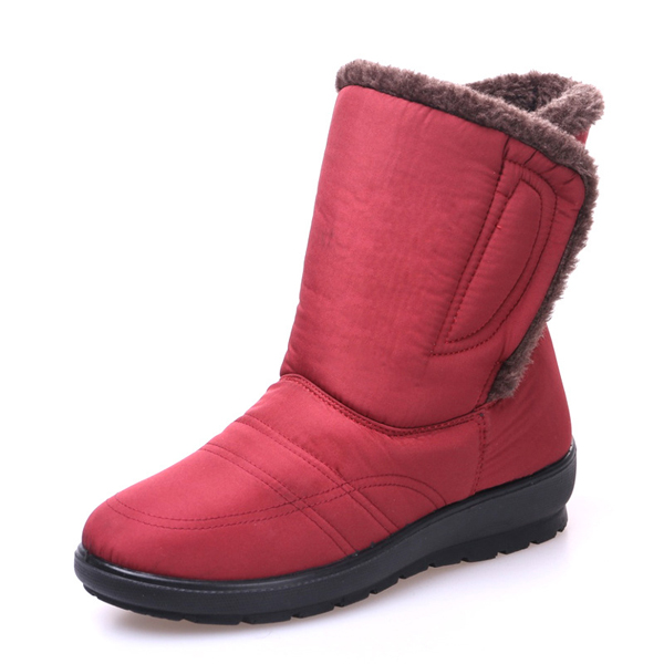 96b29cea9fb3 Large size magic stick waterproof mid calf warm snow boots bootstrap ...