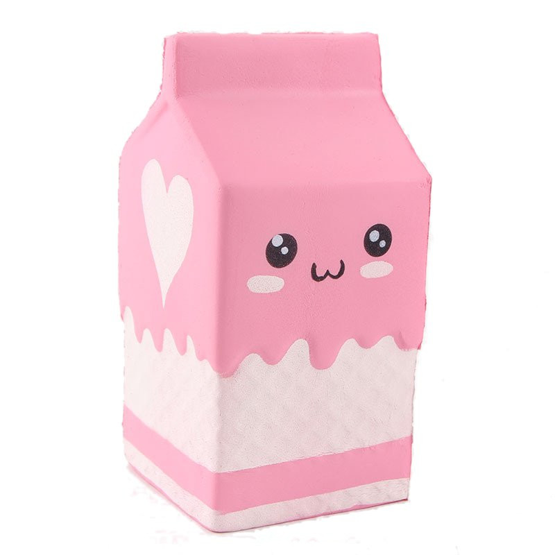 Squishy Collection Squishy : Squishy Pink Milk Box Bottle 12cm Slow Rising Collection Gift Decor Soft Toy Sale - Banggood.com