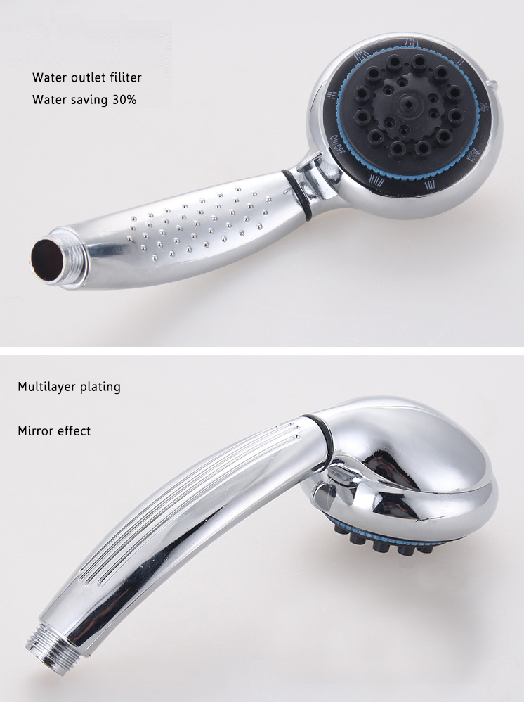 6 Functions ABS Hand Held Water Saving Pressurize Shower Head