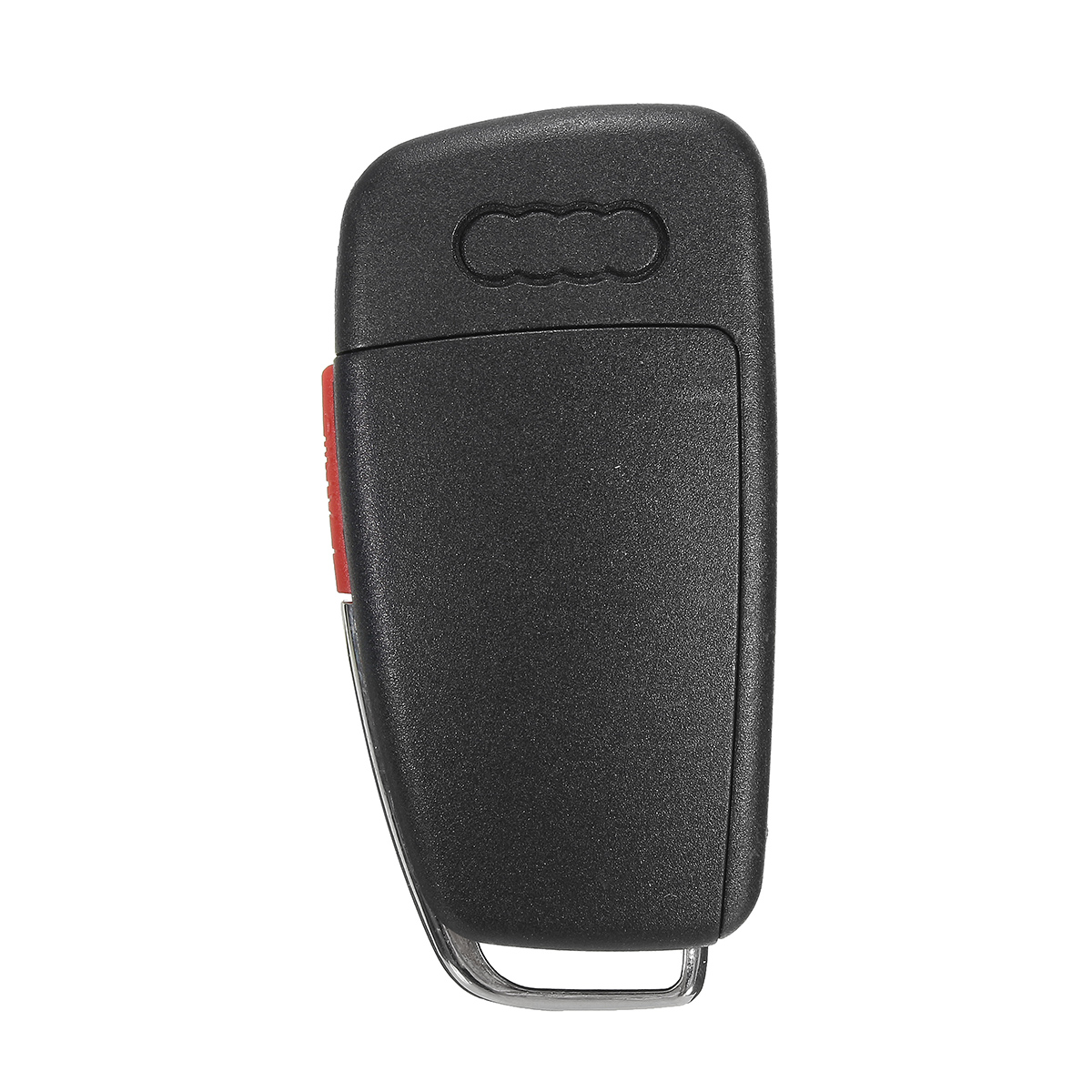 New 3+1 Buttons Remote Key Fob Case Uncut Blade For Audi