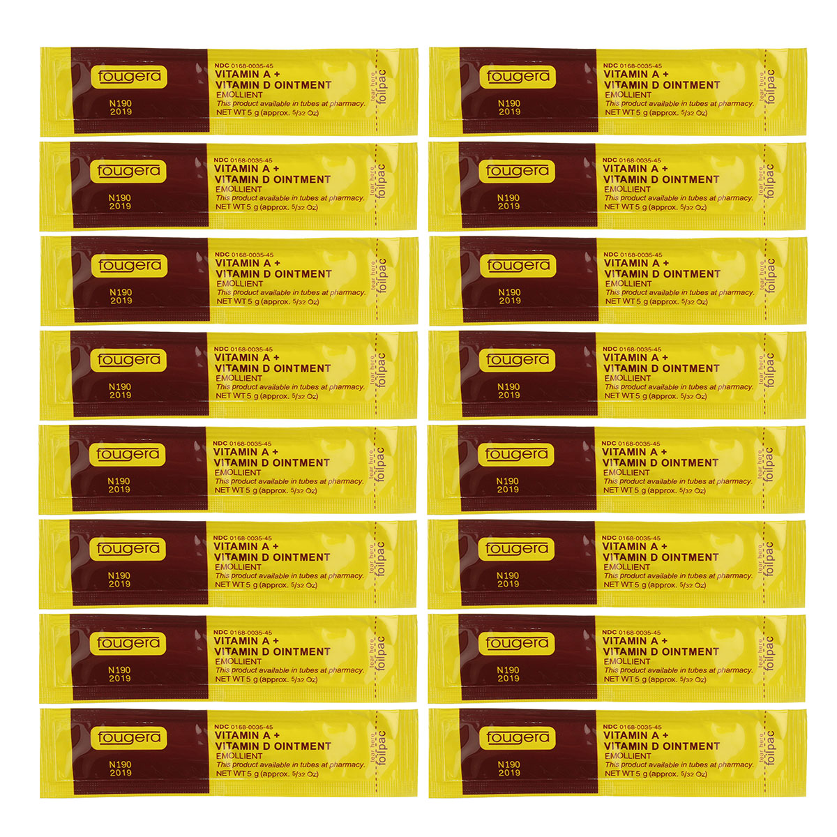 50Pcs Tattoo Fast Healing Aftercare Cream Vitamin A+D C