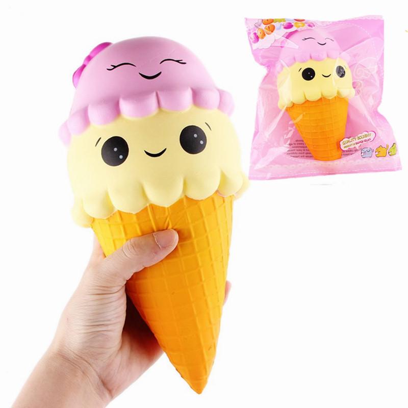 SanQi Elan Squishy Ice Cream Cone Jumbo 22cm Slow Risin