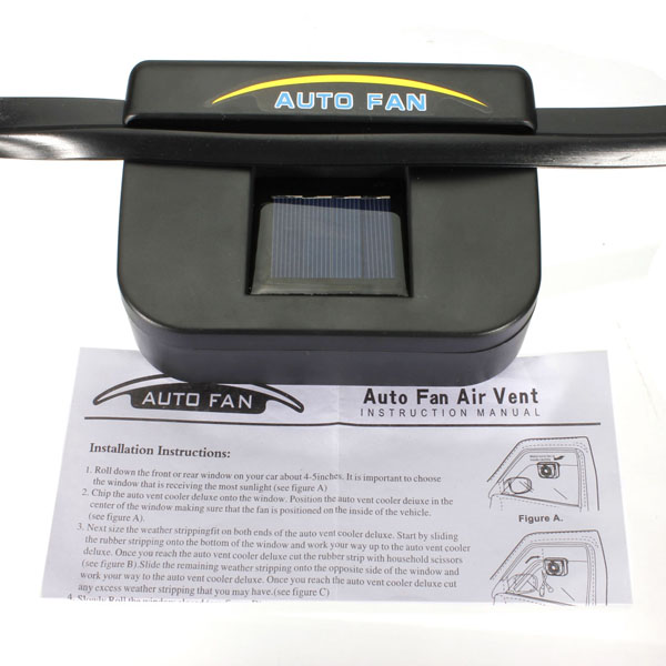 Solar Sun Power Car Auto Air Vent Cool Fan Cooler Ventilation System  Radiator