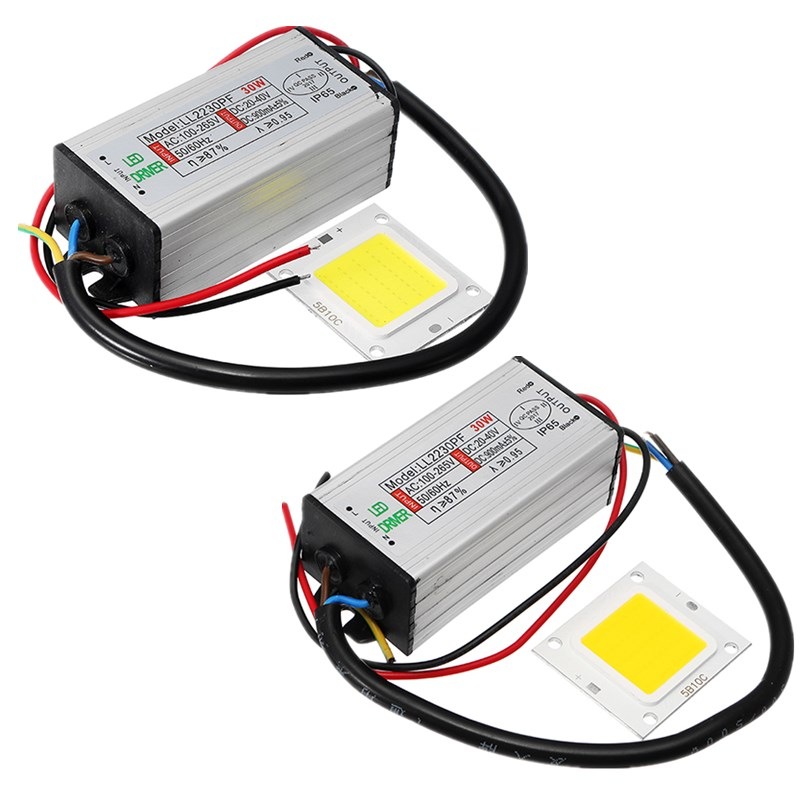 AC100 265V To DC20 40V 30W Waterproof Driver Power Supply With LED SMD Chip