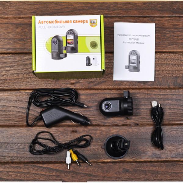 Cobao Auto -Aufnahme-Kamera DVR 120 Grad- HD Saugnapf AV-OUT Anti-Shake- Funktion