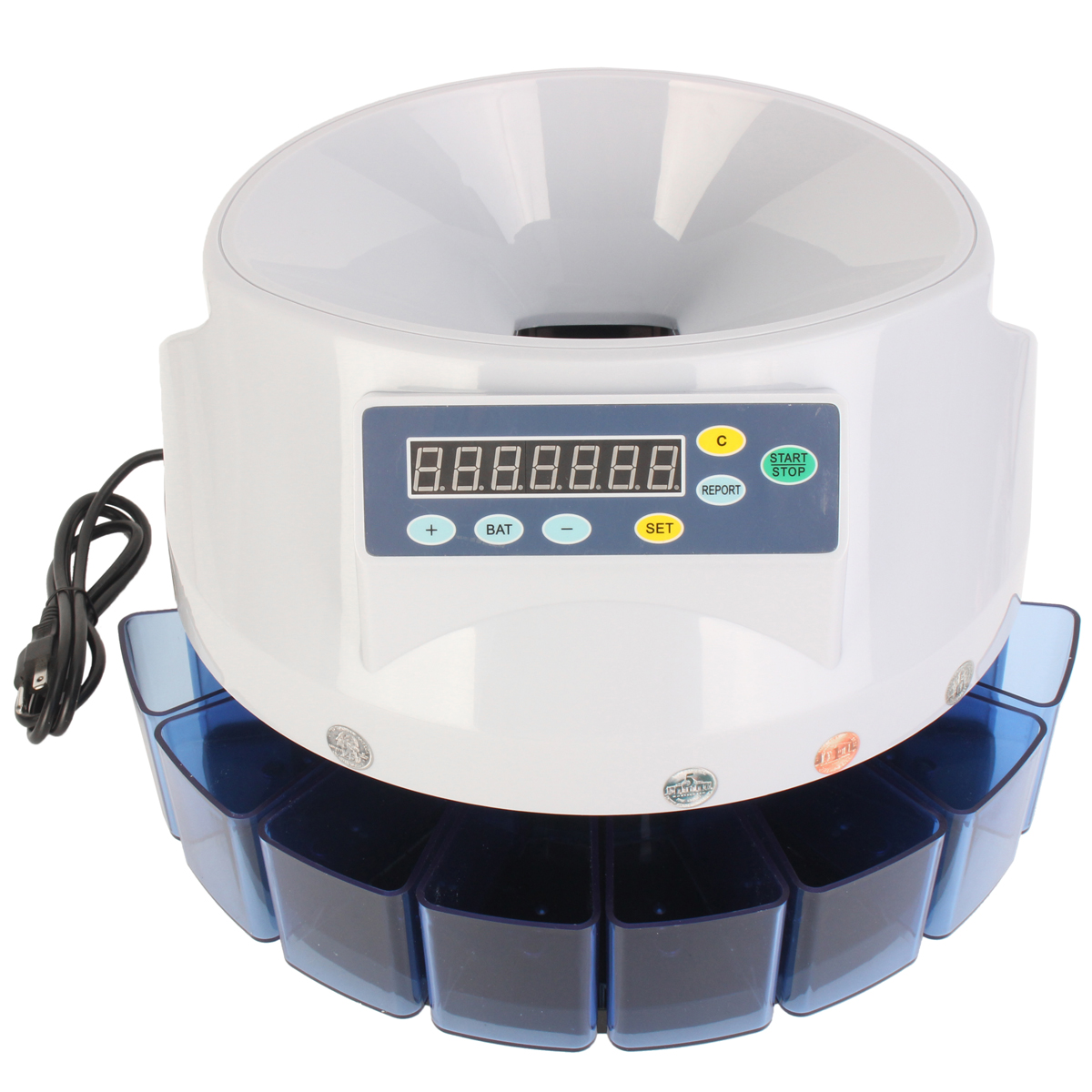 Automatic Digital Electronic US Coins Counter Money Sor
