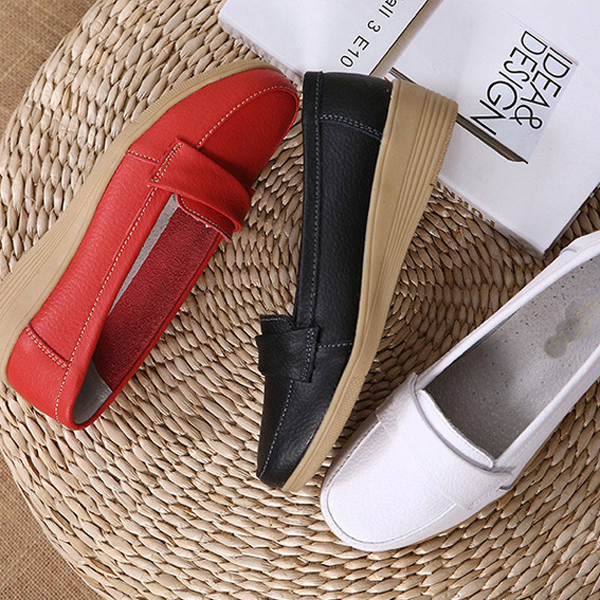 Soft Sole Casual Round Toe Slip On Flat Shoes For Women
