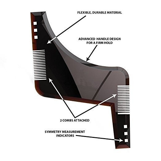 beard grooming shaping pente para barbear sim tricas beards shaper styling template guia kit na. Black Bedroom Furniture Sets. Home Design Ideas