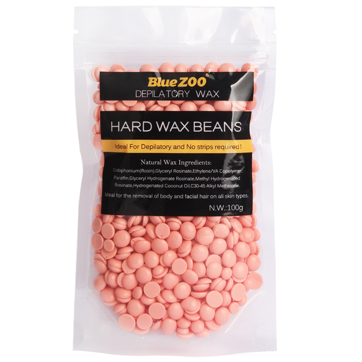 100g Rose Taste Depilatory Hot Film Hard Wax Bean No Strip Hair Remover Hard Waxing Beans Body Bikini Hair Removal Bean
