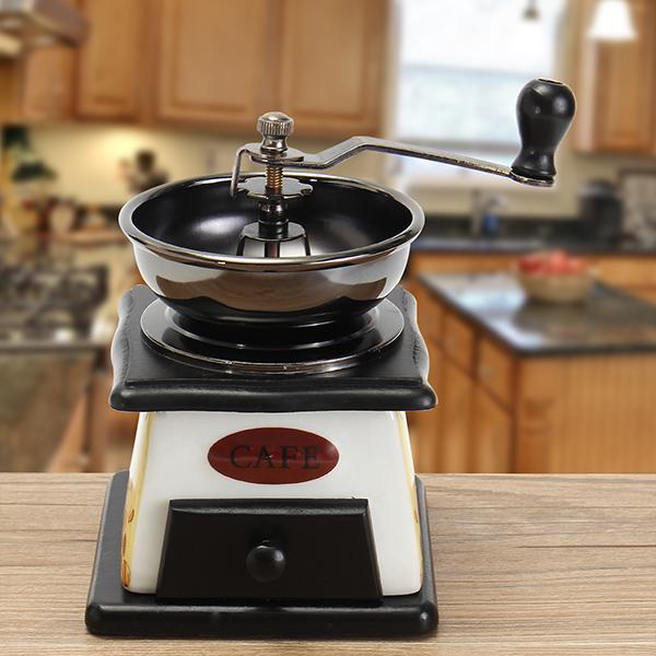 Buy Retro Mini Wooden Manual Coffee Grinder Vintage Bean Hand Grinding Machine
