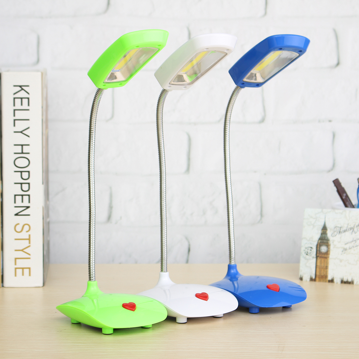 Led Table Lights Part - 19: USB/Battery Powered Flexible LED Desk Light Bedside Reading Table Lamp  On/Off Switch
