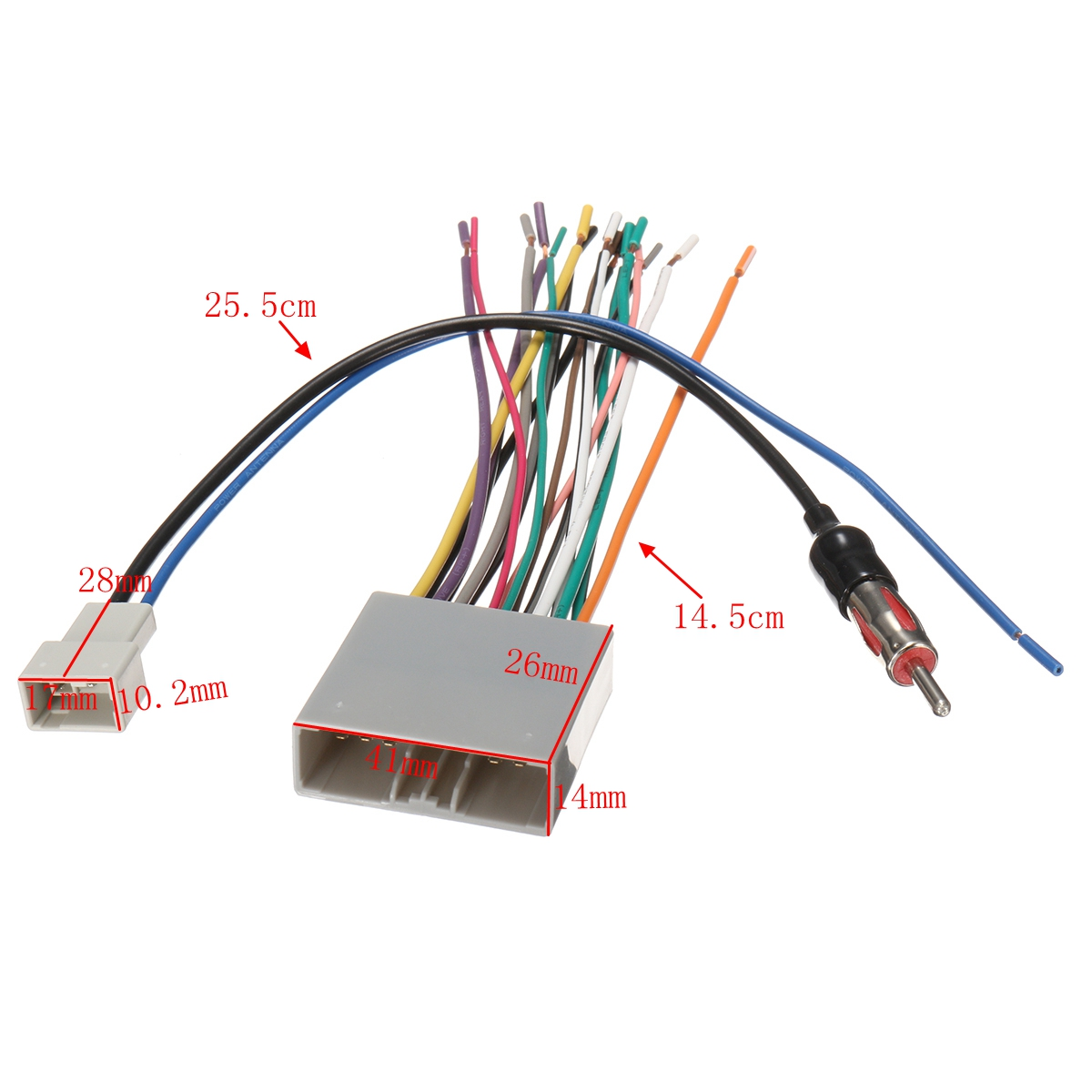 Stereo Wiring Harness Antenna Combo For Honda 2006
