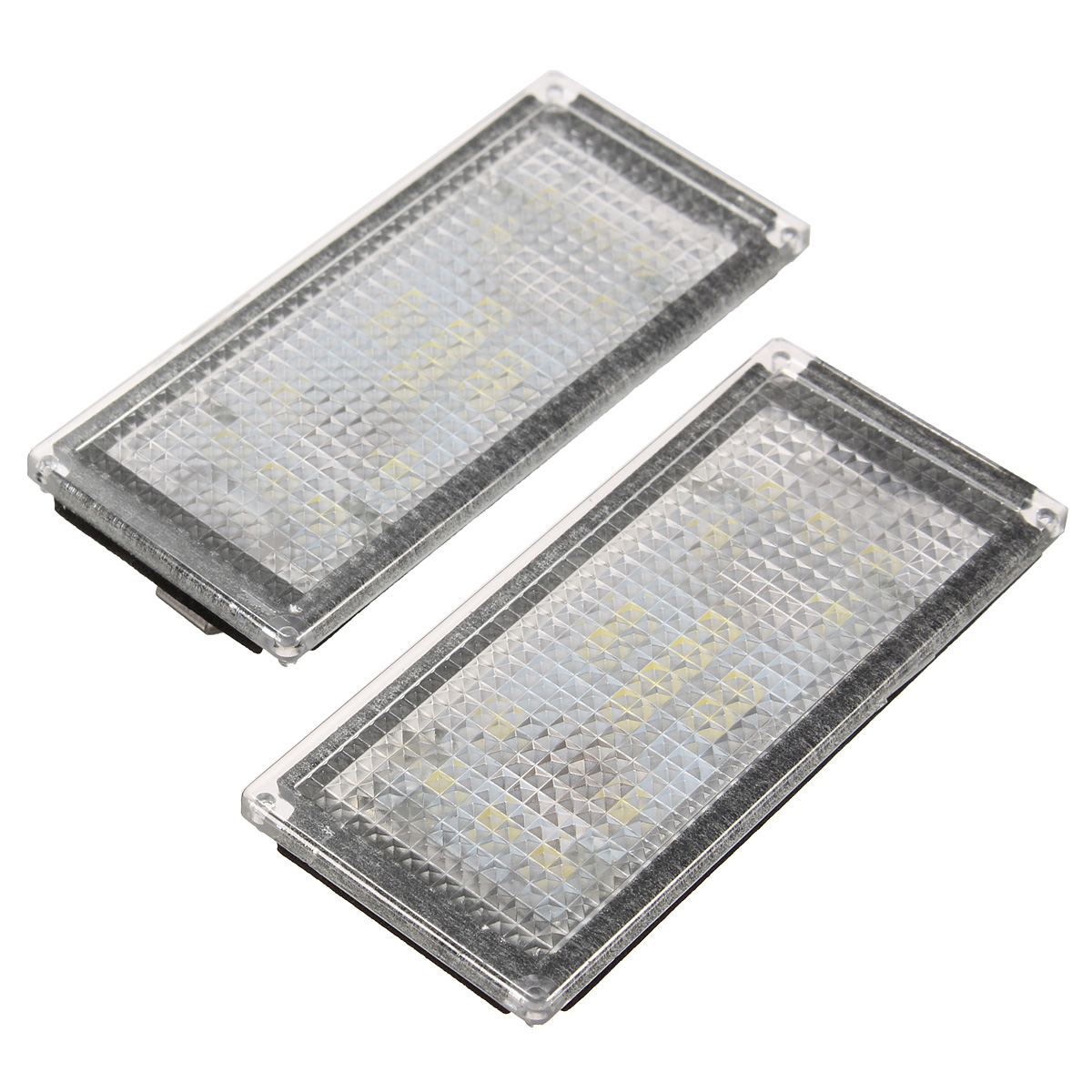 Pair 18 LED Number License Plate Light Lamp For BMW E66 ...