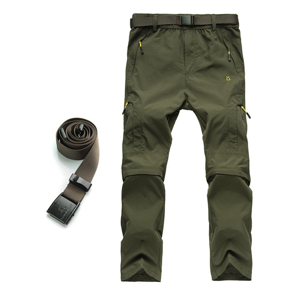 Mens Outdoor Detachable Quick-drying Sport Pants Breathable Climbing Pants
