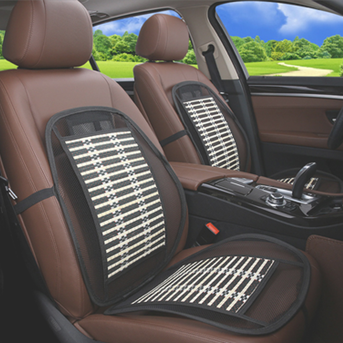Summer Car Cushion Bamboo Breathable Cooling Mat Seat
