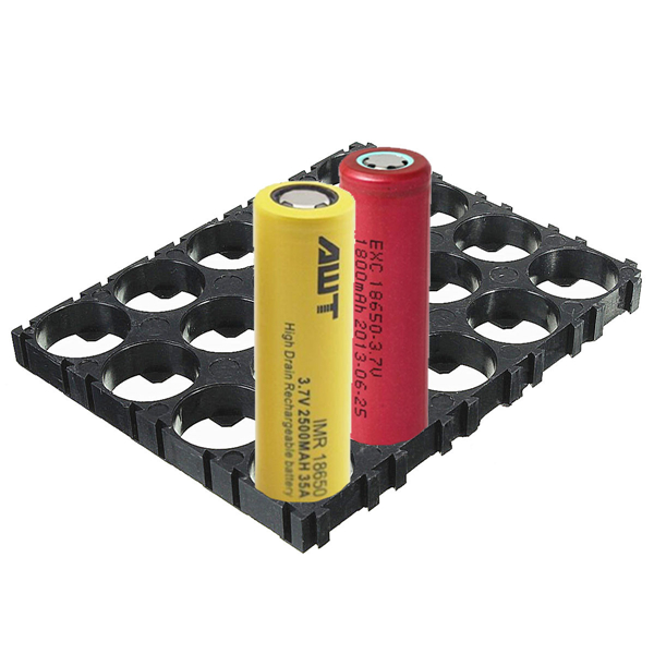 4x5 Cell 18650 lithium batteries Spacer ABS Plastic holder 100x80mm