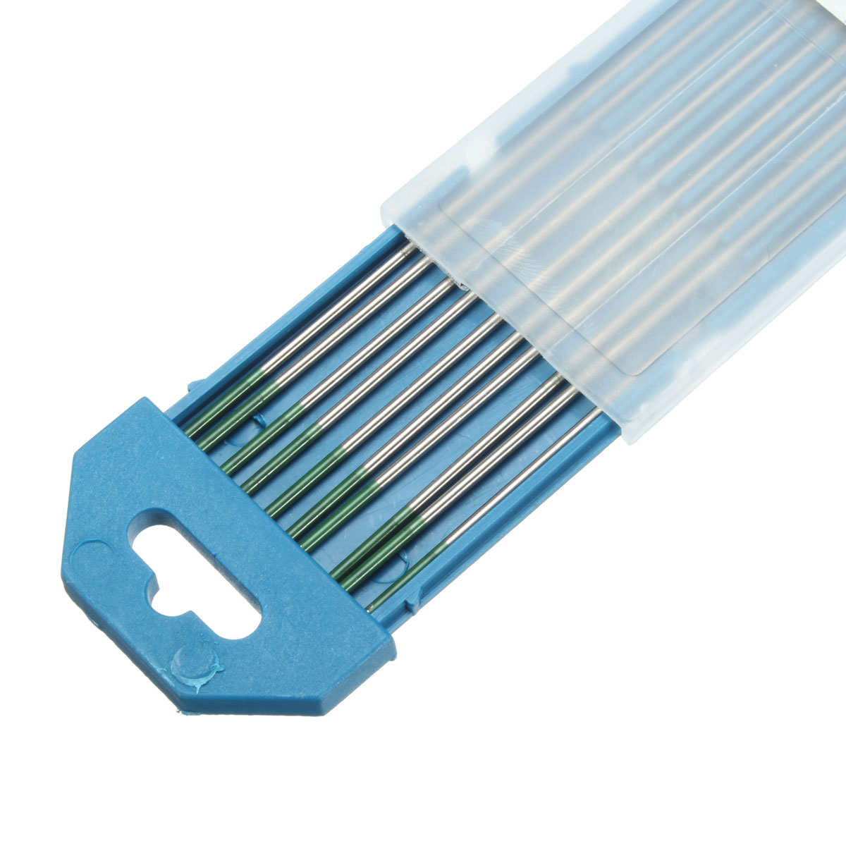 Green Tip Pure Tungsten Electrode for TIG Welding 10PK  1