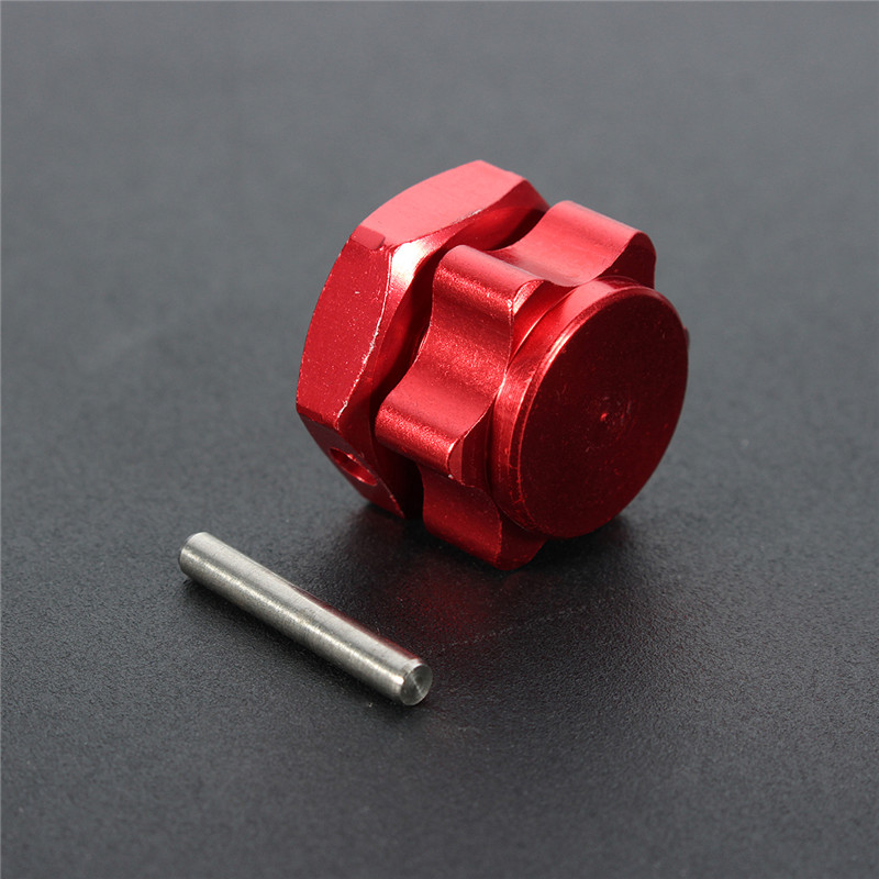 12PCS Red Aluminum 17mm Rim Wheel Hex Mount Hub Nuts Cover Pin For 1/8 RC Car Parts