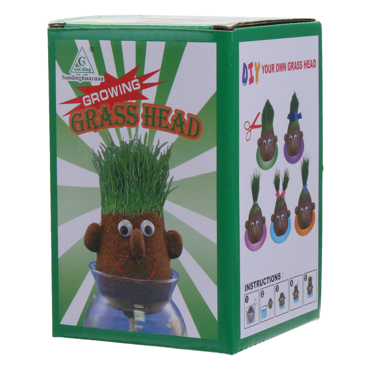 Mini Magic Growing Grass Head Education Toys Random 4PCS Dolls Children Kids Craft DIY Gifts