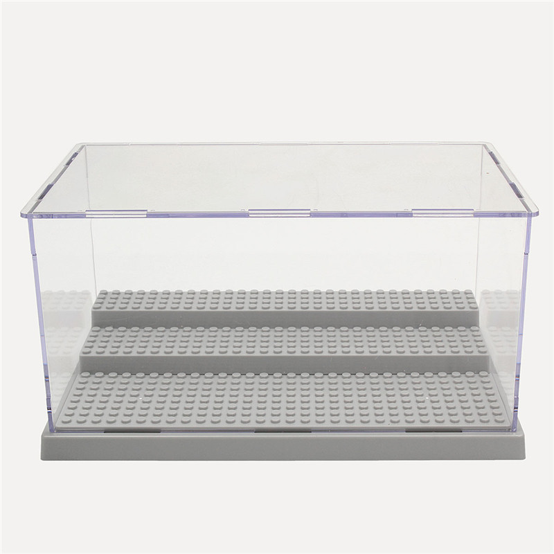 Acrylic Boxes Miami : Steps clear acrylic display case dustproof tray