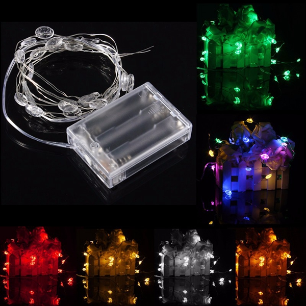 2M 20 LED Lucky Egg Style Battery Operated Xmas String