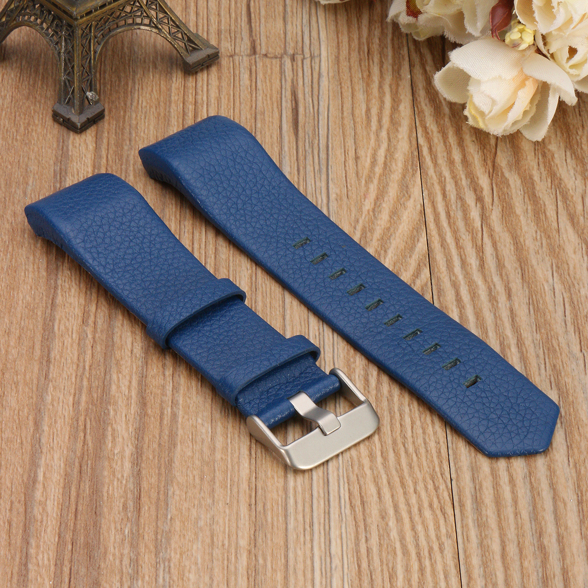 Replacement Sports Soft Durable Leather Bracelet Strap Band Watchband for Fitbit Charge 2