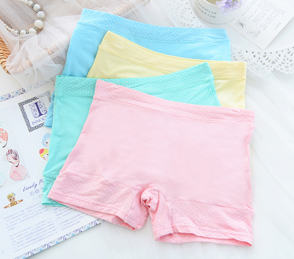 Women Modal Mid Waist Boyshort Breathable Comfort Panties
