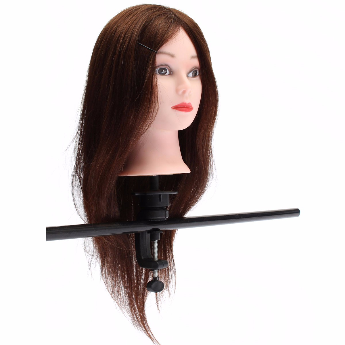 20 Quot Brown 90 Human Hair Hairdressing Training Head