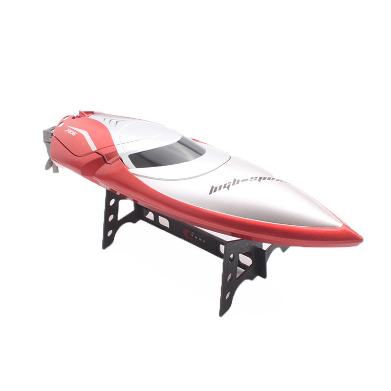 H106 2.4GHz 7.4V 600mAh Battery LCD Display High Speed RC Boat Wireless Racing Fast Ship