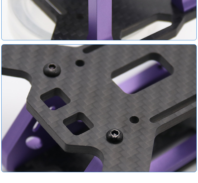 Realacc DC220 220mm 4mm Arm thickness Carbon Fiber Frame Kit for Multirotor