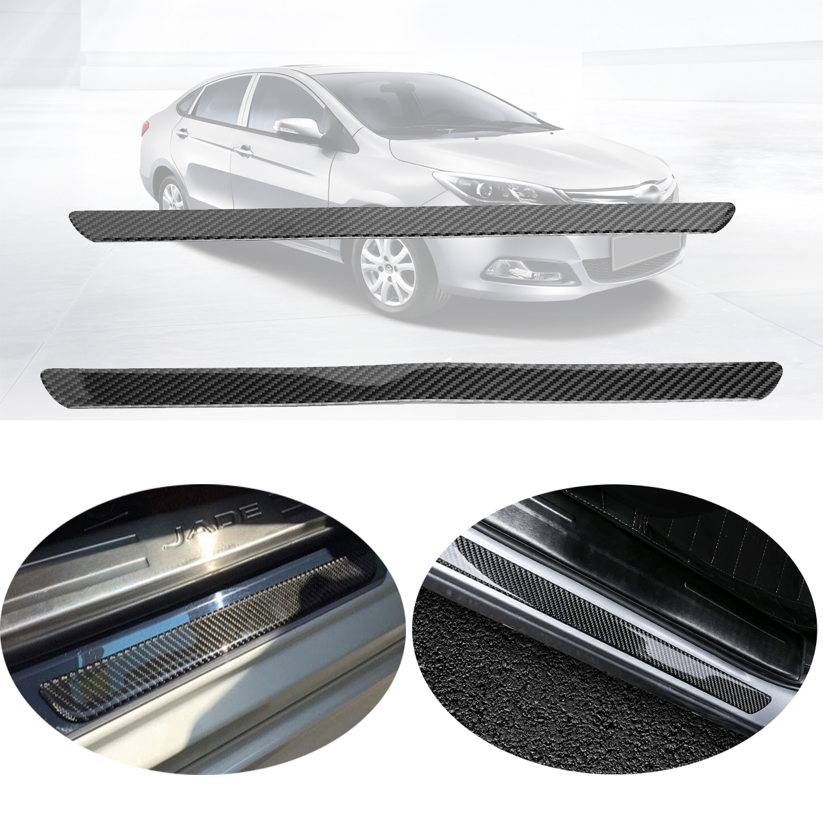 One Pair Universal Car Scuff Plate Door Sill Panel Step