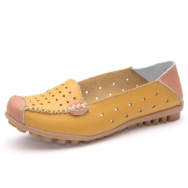 Buy Women Casual Flat Shoes Slip-on Leisure Breathable Ballet