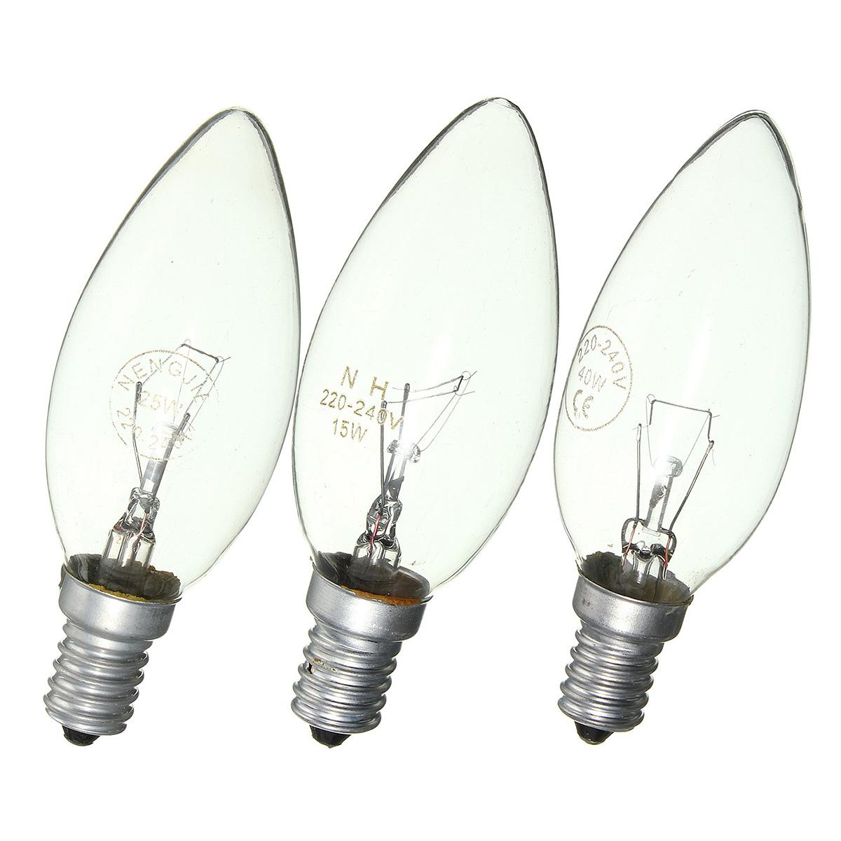 E14 15w 25w 40w Warm White Vintage Edison Incandescent