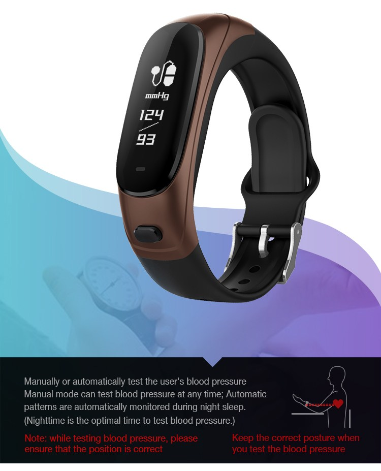 bakeey v08 bluetooth headset blood pressure heart rate monitor fitness tracker smart wristband. Black Bedroom Furniture Sets. Home Design Ideas