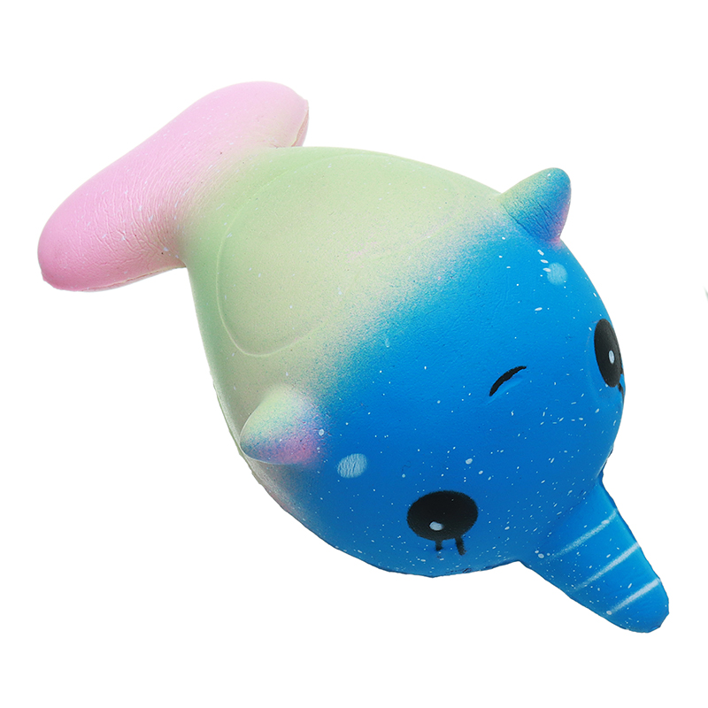 Unicorn Whale Squishy : Squishy Unicorn Whale 7.9CM Slow Rising Straps Rainbow Dolphin Squeeze Toy With Packaging Sale ...