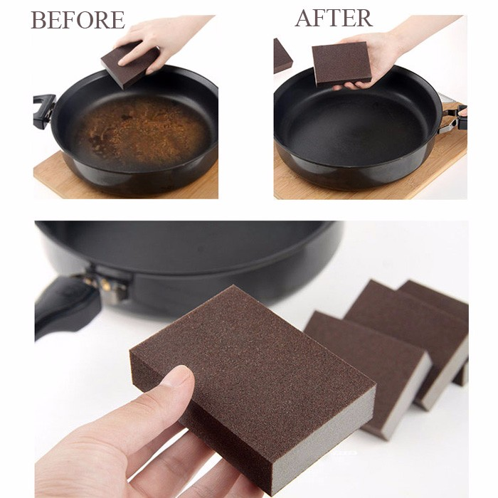 Magic Emery Sponge Brush Eraser Cleaner Kitchen Rust