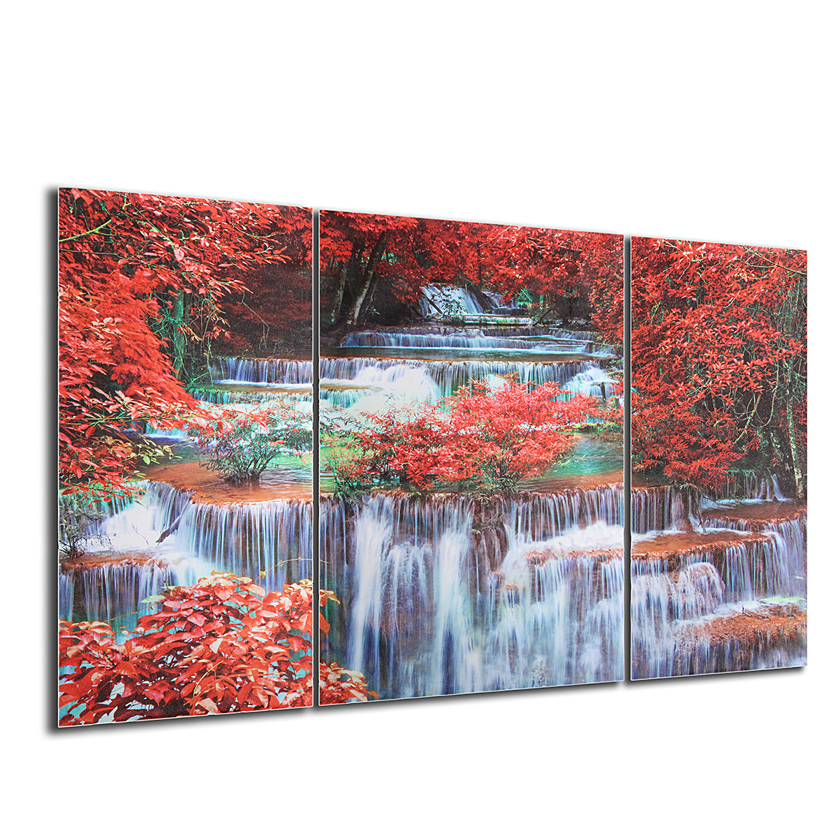 Triptych Frameless Canvas Prints Wall Art Picture Mangrove