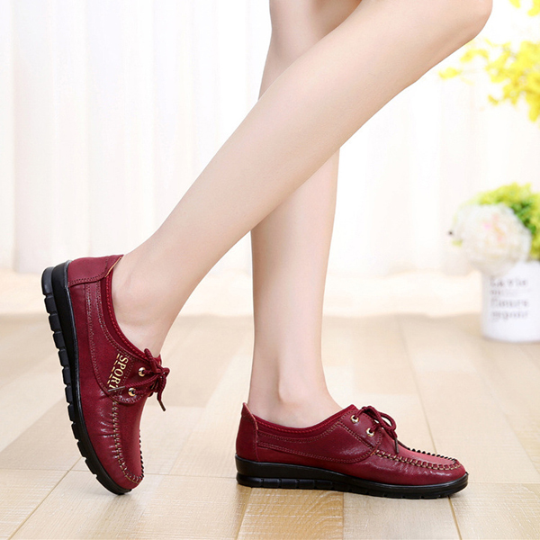 Flats Women Casual Outdoor Soft Comfortable Flat Lace Up