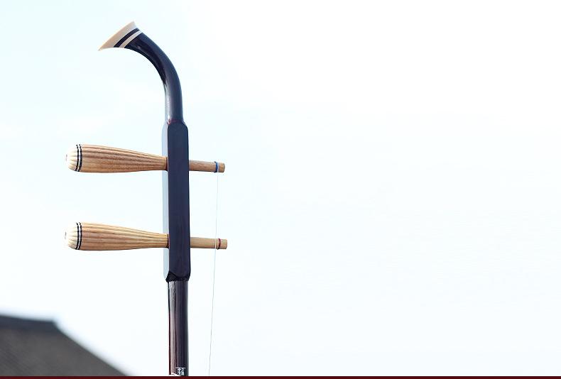 Wuyue Erhu Chinese Musical Instrument 2 String Erhu Round Pole Hexagonal Shape With Bow  - Photo: 11