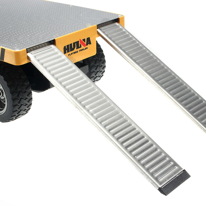 HuiNa 578 1/10 Flatbed Trailer Die Cast Alloy Metal Plastic Toy Car Gift Collection - Photo: 8