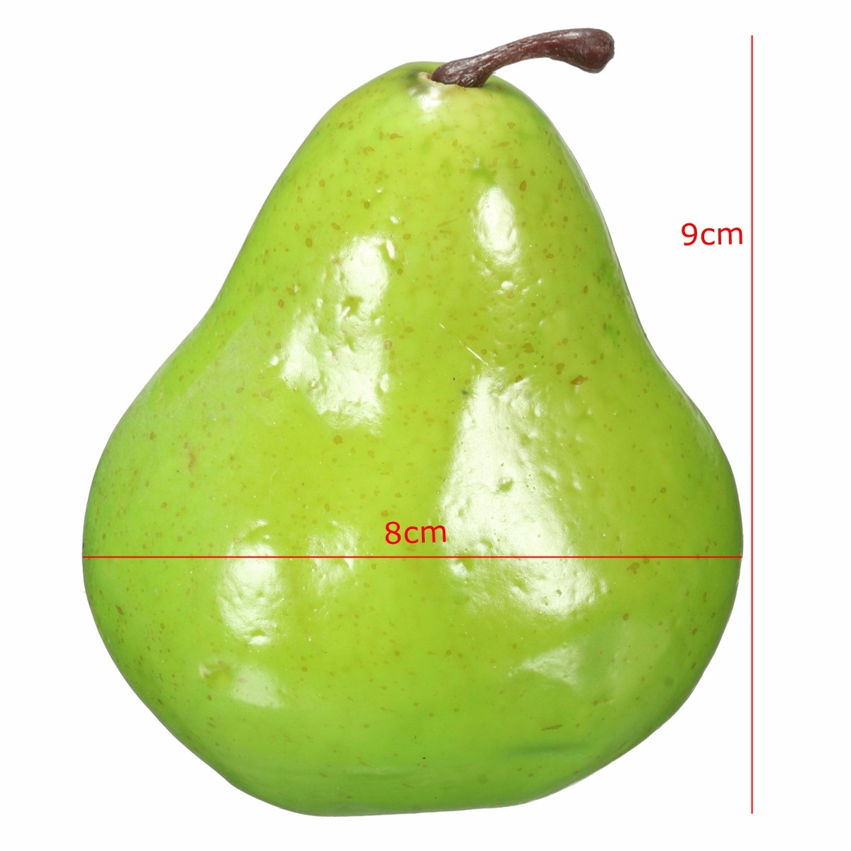 Other gadgets 8pcs lifelike artificial plastic fruit for Artificial pears decoration