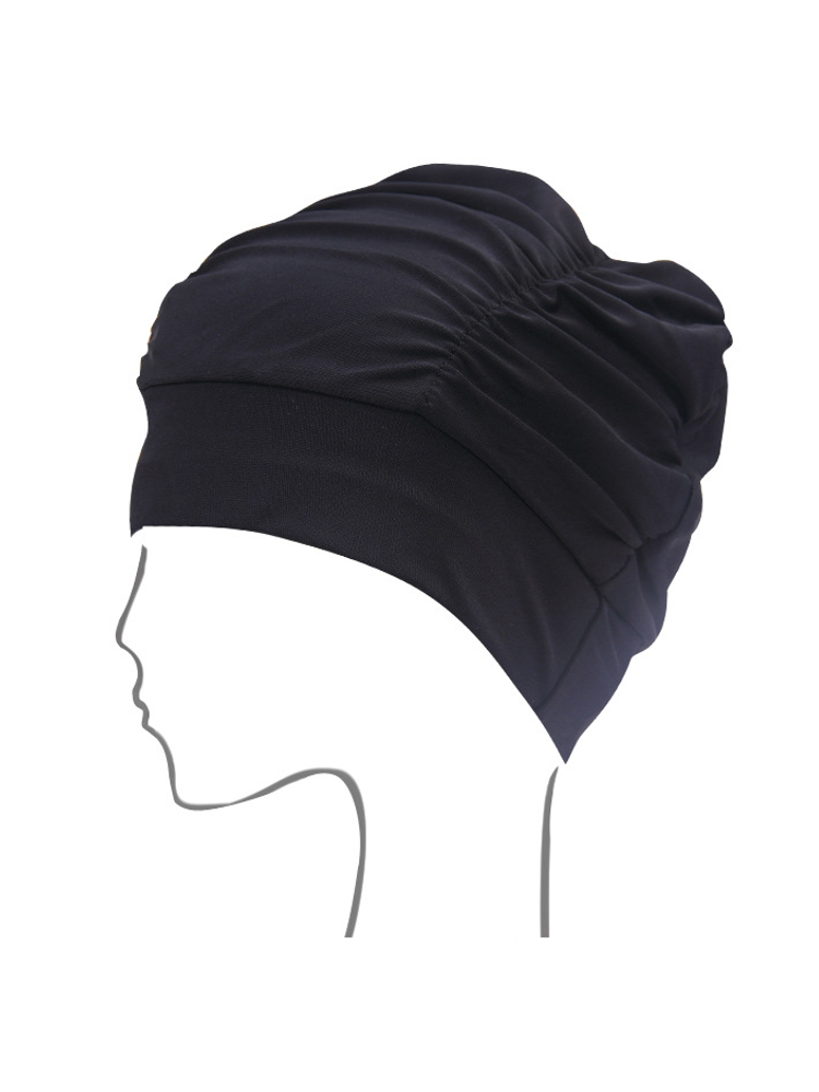 Sports Long Hair Swimming Caps Stretch Elastic Flexible Drape Bathing Hats For Women
