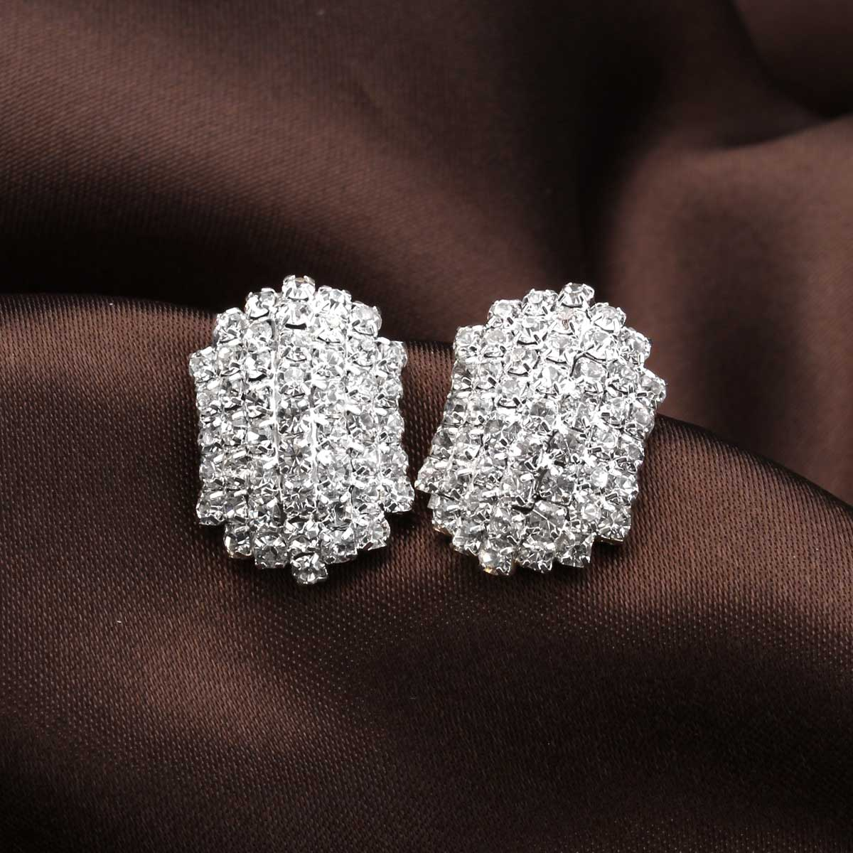 Full Crystal Rhinestone Beetle Stud Earrings Women Jewelry