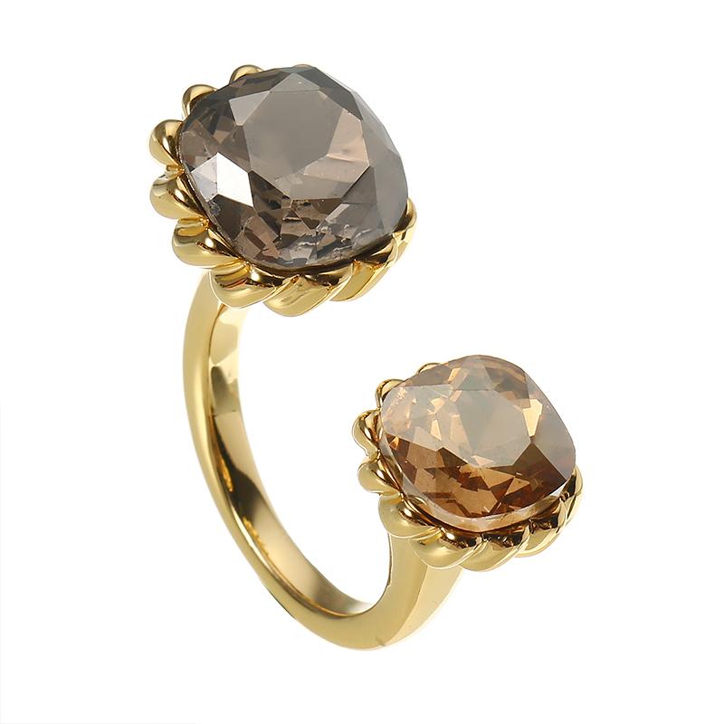 JASSY® K oro plateado anillo abierto de lujo anillo cristalino anallergic exquisito