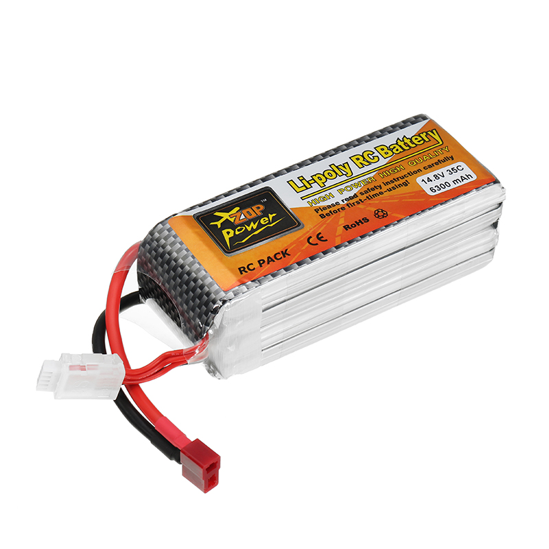 ZOP Power 14.8V 6300mAh 35C 4S Lipo Battery T Plug for RC Car RC Airplane
