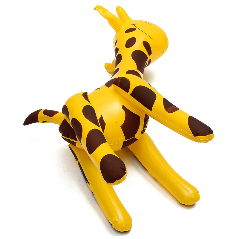 Inflatable Giraffe Zoo Animal Blow Up Inflate Party Toy